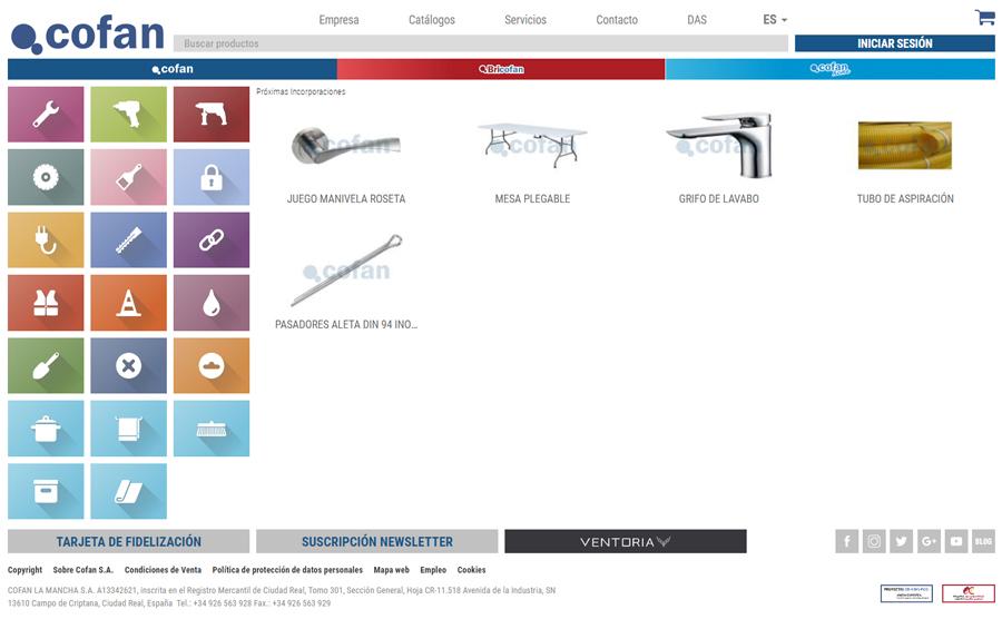 nuevas incorporaciones ferreteria online tienda cofan