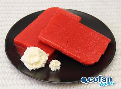 helado de fresa casera