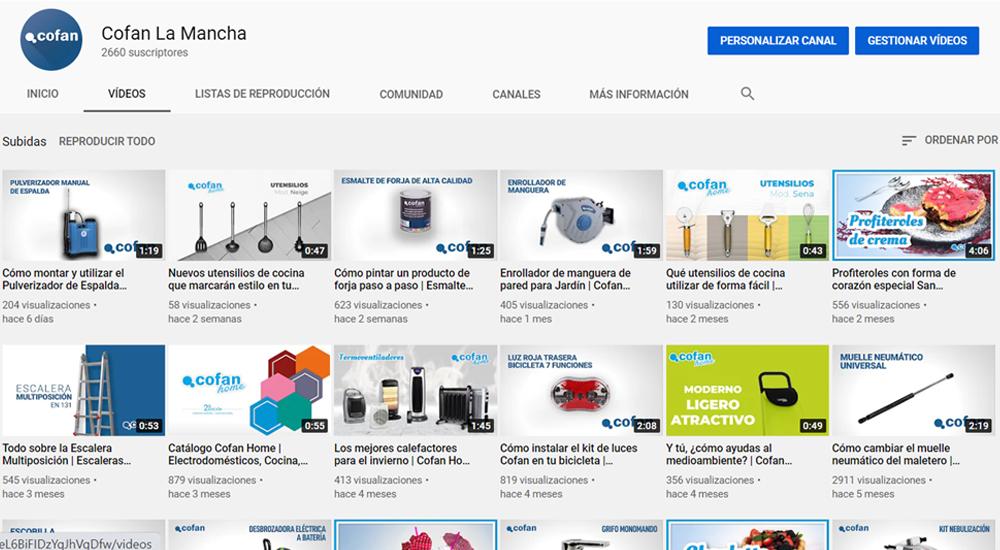 Canal de YouTube Cofan